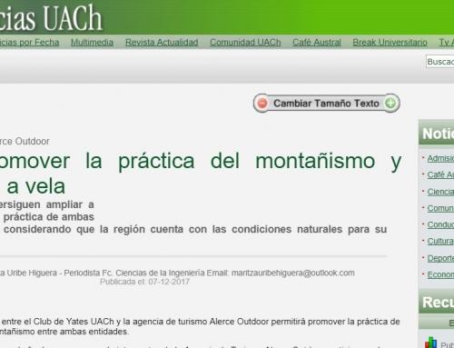 Promover Montañismo – Nota UACh