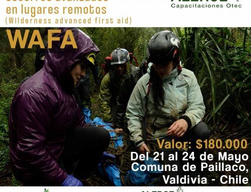 Curso WAFA (Wilderness Advanced First Aid) Primeros socorros avanzados para Zonas Remotas 2020